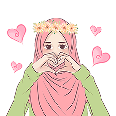 Hijab Chic Animated Sticker