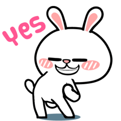 hyperrabbit oh yes line stickers line store