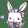 Lucu kelinci mengenakan Lolita fashion