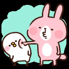 Pisuke&Rabbit. by Kanahei