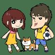 シャク連太郎と少女とワンコ