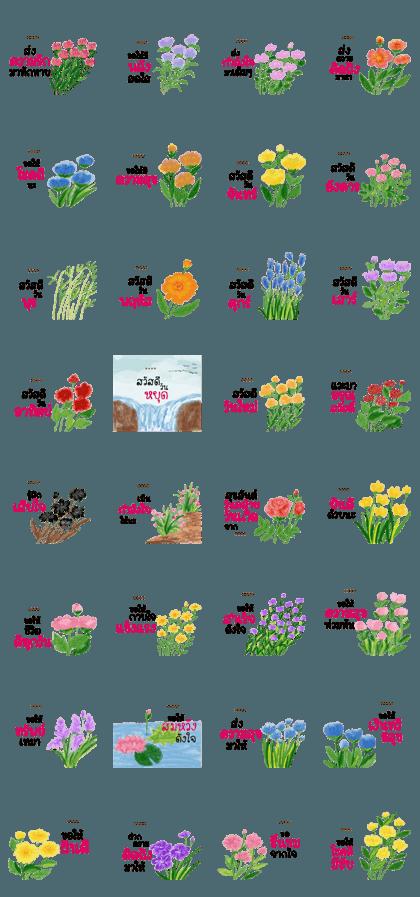Hello New days with flower custom 3