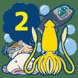 ダイオウイカと深海生物スタンプ第2弾