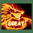 炎のモンスター(ドラゴン、不死鳥、馬)