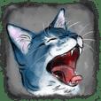 青い猫のスタンプ