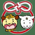 叶結 Kanayui 狛犬ドーマン&セーマン