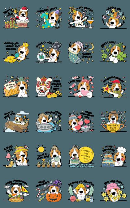 Toffee The Beagle Set 2 (Festive Season)