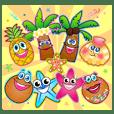 可愛的夥伴 椰子 棕櫚樹