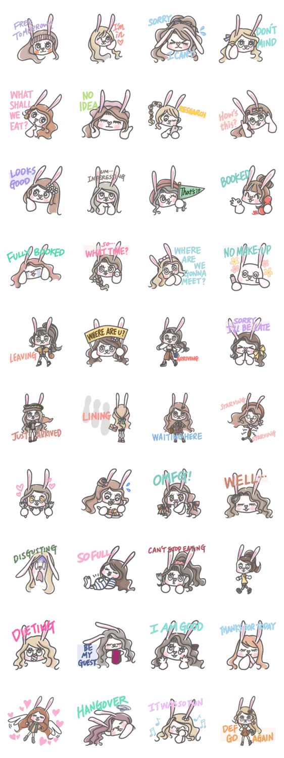 「Eat out with Ranny (Eng ver.)」のLINEスタンプ一覧