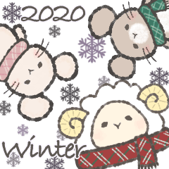 Winter of sheep and forest animals 2020
