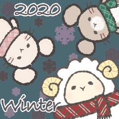 もふもふひつじと森の動物たちの冬 2020