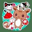 日本の神様と福呼ぶ動物たち