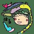 Haru-chan and funny animals