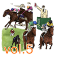 Sticker Of Horse Racing 5
