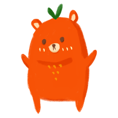 Orange bear 1