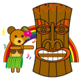 Hula Bear & Hawaiian Tiki