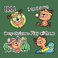 聖誕節的可愛小馴鹿(英文版)