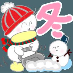 Kawaii Little Gako Stickers 3 Winter