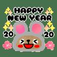 【2020】らびすけ年末年始に使えるスタンプ