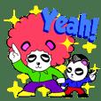 Slash and 3color Afrohear panda(English)