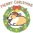 1 corgi Christmas animation sticker