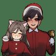 Cheesy Christmas Couple