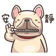 French Bulldog-PIGU IV Animated Stickers