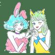 Bunny girl & Cat girl