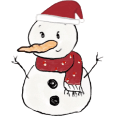 The scarf snowman