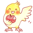 It is a Sticker of cockatiel !