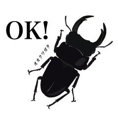 Japanese Rhinoceros Beetle, Stag beetle