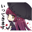 sticker of Gothic Moenekodou&moegi