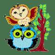 Funny owl family