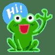 "Cheering frog ""Yell"""