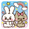 "Japanese ""Kawaii""Rabbit& Cat"