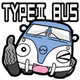 TYPEⅡバスくん(青白ツートンver)