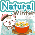 Natural cat, winter natural english