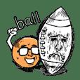 愉快なボールキャラクター