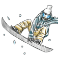 Snowboarder's Sticker