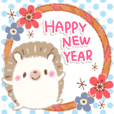 Harezumi's New Year's holiday sticker