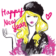 Mode Fashion girl happy new year
