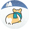 1corgi winter sticker animation