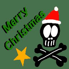 PUNK rock が好きなドクロのクリスマス