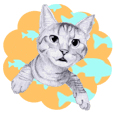 My cat Tama's stickers [For English]