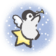Emperor Penguin's Winter Sticker