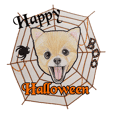 Halloween Pomeranian Sticker