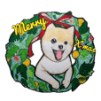 Merry Christmas pomeranian sticker