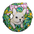 Merry Christmas French bulldog sticker