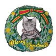 Merry Christmas Cat sticker