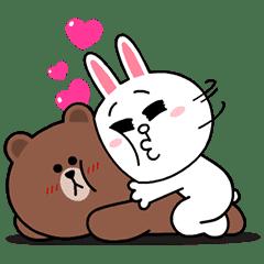 熊大兔兔情侶檔★愛到心坎裡